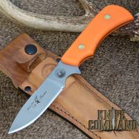 D2 blade and Blaze Orange Suregrip handle.