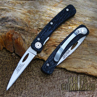 Wharncliffe blade, black SureGrip handle with clip.