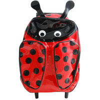 Vinyl Ladybug Pull-Along Backpacks