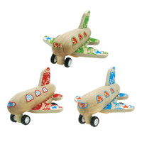 Wooden Pull-Back Toy Airplanes