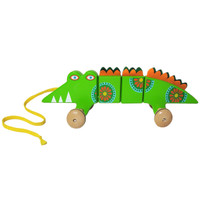 Alligator Wooden Pull Toy
