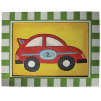 Red Car Framed Canvas