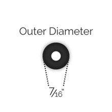 "7/16"" OD Black Mini Post Rubber Ring"