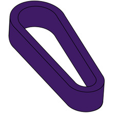 Flipper Rubber (Standard Size) - Purple