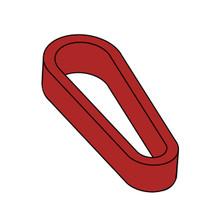 Mini Flipper Rubber - Red