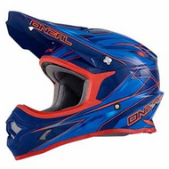 Oneal Youth Hurricane MX Dirtbike Helmet Blue/Red