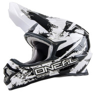 ONEAL 3 SERIES SHOCKER HELMET BLACK/WHITE ADULT