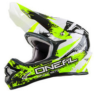 Oneal 2017 Youth 3 Series Shocker Helmet - Black/Neon Yellow