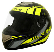 RJays Apex II Helmet - Matt Black / Hi Viz