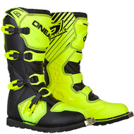 Oneal Rider Boots Hi Viz Yellow Youth