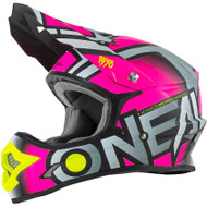 Oneal 2017 3 Series Radium Helmet Grey/Pink/Hi Viz Youth