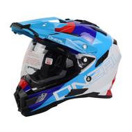 Oneal 2017 Sierra Duel Sport Helmet Edge Wht/Red/Blu