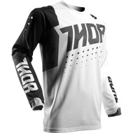 Thor Jersey S17 Youth Pulse Aktiv White/Black