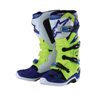 TLD 18 ALPINESTARS BOOTS TECH 7 YELLOW FLUO/BLUE/WH