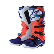 TLD 18 ALPINESTARS BOOTS TECH 7 RED FLUO/WHITE/BLUE