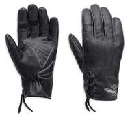 Harley-Davidson Glove - F/F, Swingback Distrssd Lea, BLK