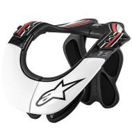 Alpinestars Pro Fiberglass BNS Neck Brace - White / Black