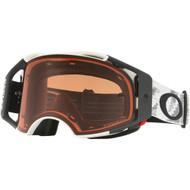 Oakley Airbrake Speed Prizm Goggles -  Matte White, Bronze Lens