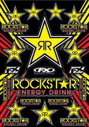 FX Rockstar Energy Sticker Sheet