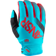 Answer Syncron Youth Gloves - Cyan / Red