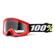 100% Strata Mini Pee Wee Goggles - Red