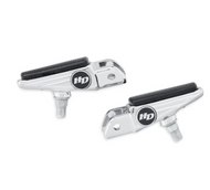 Defiance Collection Rider Footpegs with Wear Peg - Chrome