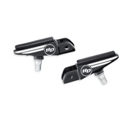 Defiance Collection Rider Footpegs with Wear Peg - Black Anodized