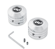 Defiance Collection Front Axle Nut Covers - Chrome