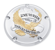Live To Ride Collection Gold Derby Cover