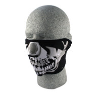 Neo Half Mask - Black + Chrome Skull