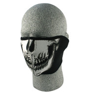 Neo Half Mask - Black + Glow in the Dark Skull