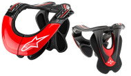 Alpinestar BNS Tech Carbon Neck Brace BLK/WHT/RED