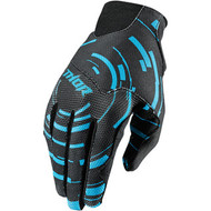 Thor Youth Void Plus Gloves Cyan