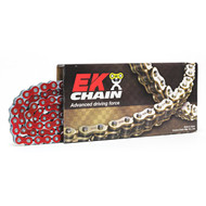 EK Chains 520 QX-Ring H/Duty Narrow Metallic Red 120L Race Chain