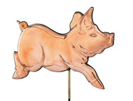 Weathervane - Polished - Romping Pig