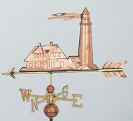 Weathervane - Lighthouse  Polished