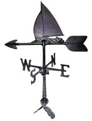 Weathervane: 24in. Sailboat With Mount