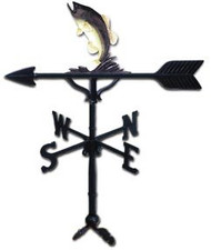 Weathervane: 32in. Bass Fish With Mount