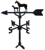 Weathervane: 32in. Mare & Colt With Mount
