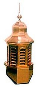 Custom Copper Cupola - Octagon Bell Top 30 in.x80