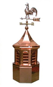 Custom Copper Cupola - Octagon with Rooster