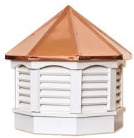 Gazebo cupola - VINYL - copper top 18in.