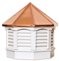Gazebo cupola - VINYL - copper top 21in.