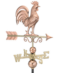 Bantam Rooster Weathervane - Polished Copper
