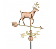 Good Directions White Tail Buck Weathervane - Polished Copper