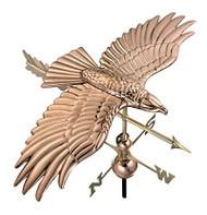 Good Directions Soaring Hawk Weathervane - Polished Copper