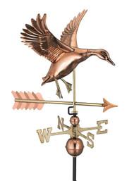 Landing Duck with Arrow Weathervane