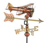 Biplane with Arrow Garden Weathervane