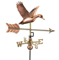 Flying Duck with Arrow Garden Weathervane