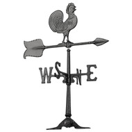 "Whitehall 24""  Accent Rooster  Weathervane – Black"
